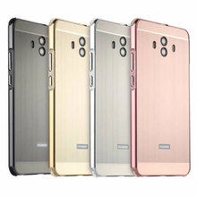 For Huawei Mate 10 Bumper Case Luxury Plating Metal Frame For Huawei Mate 10 Brushed PC Hard Back Cover For Huawei Mate 10 Coque