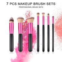 7Pcs Cosmetic Brushes Kit Eyeshadow Brush Oblique Head Brush Powder Brush Makeup Tools