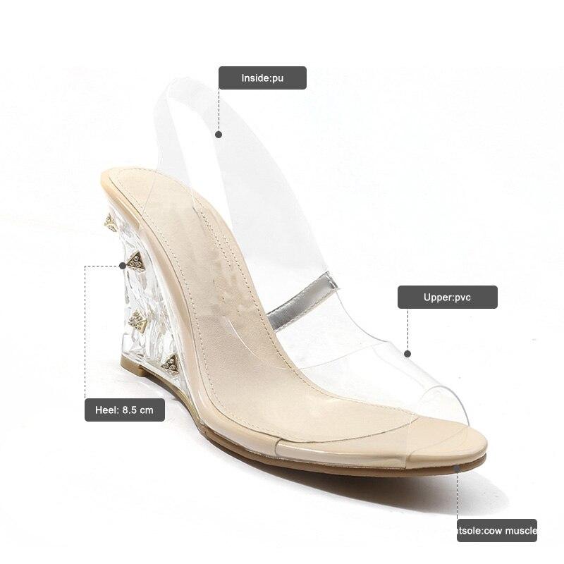 Nuevos Mujer De Alto Verano Tacón Calzado Cristal Sandalias 2019 8nNOmwPvy0