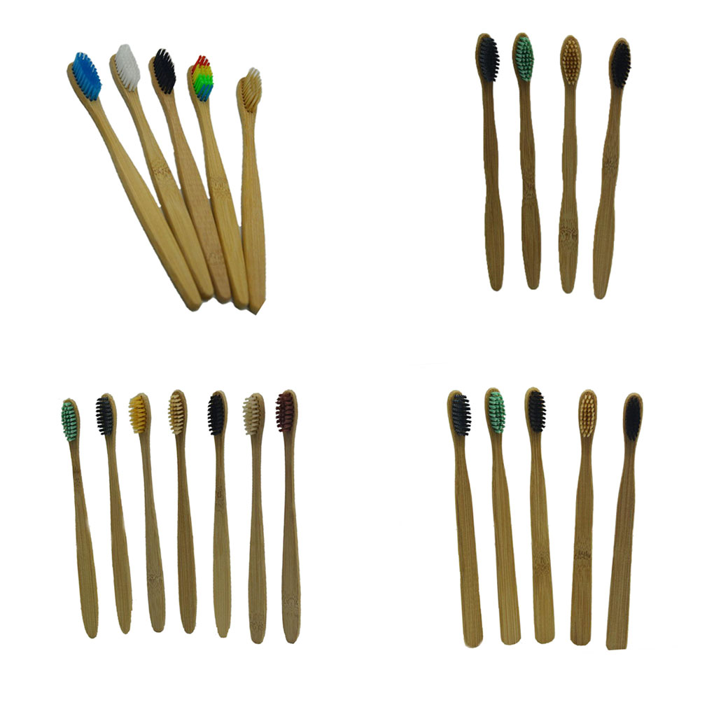 2018 HOT SALE Disposable Toothbrushes Bamboo Handle Tooth Brush Nylon Soft Bristles Toothbrush for Home Hotel image