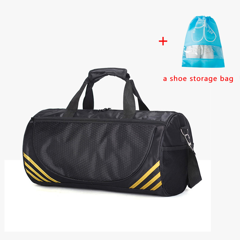 FJUN Gym Sport Bags Men and Women Quality Fitness Waterproof Multi-function Bag Outdoor Travel Camping Sports Handbag outdoor washed canvas sport gym bags multi function handbag single shoulder bag men travel independent shoes duffle bags