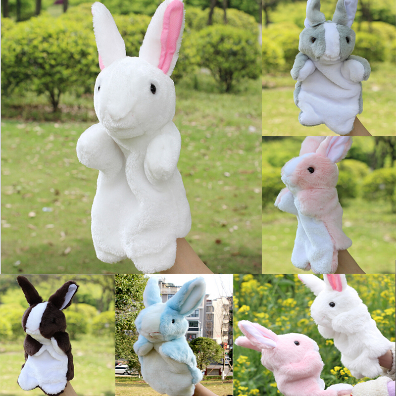 Funny Cute Toys Doll Holiday Sale Lovely Speaking Rabbit Animal Puppet Kids Love Hand Puppet Animal Glove Puppet  674124