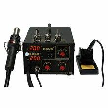 цена на BGA Rework Solder Station 220V 110V KADA 852D+ SMD repairing system BGA soldering station Hot air gun & solder iron 2 in 1