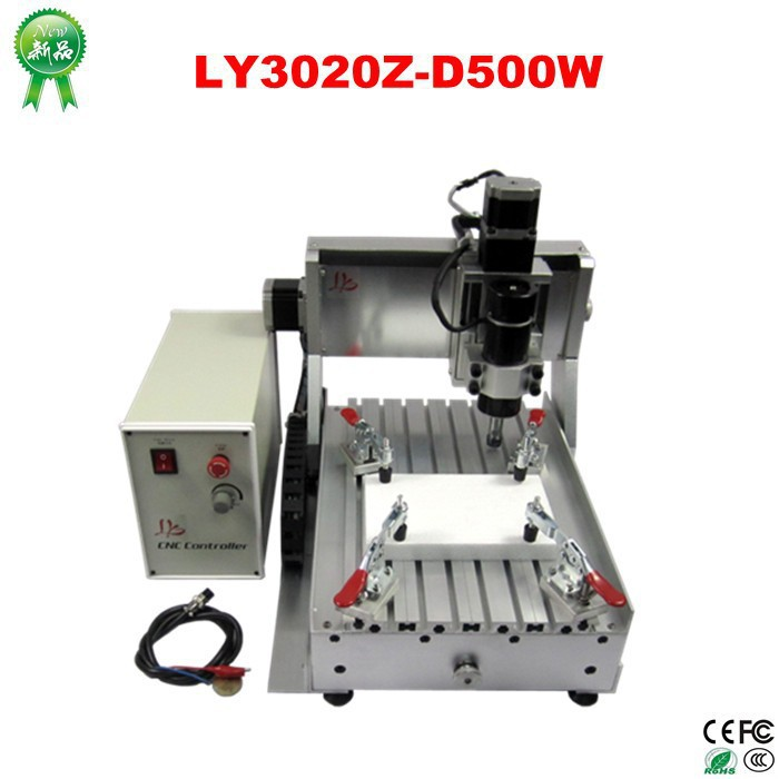 LY 3020 CNC engraving machine, 3020 mini CNC  milling machine, CNC 3020Z-D500W ly cnc router 3020 z d 500w spindle engraving machine with the limit switch small mini cnc milling machine