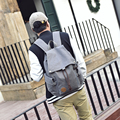 New fashionable canvas men's backpack college student school book bag vintage male's travel bag leisure shoulder bag