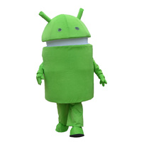 Professional New Android Robot Mascot Costume Dress Adult Size Free shipping