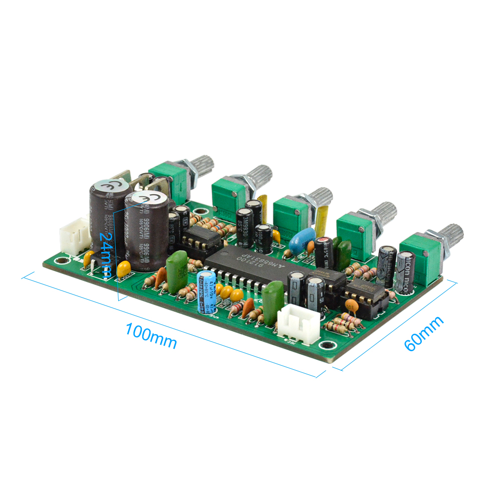 Aiyima 1pc Preamplifier Ne5532 Karaoke Microphone Amplifier Board Pre With Tone Control Preamp Bass Tweeter Sound Reverberation In Microphones From Consumer