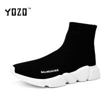 Женская Обувь Мода Люкс Ткани Стрейч Высокие Поскользнуться На Носки Обувь Лодыжки Трикотажные Плоские Вскользь Марка Обувь Zapatos Mujer