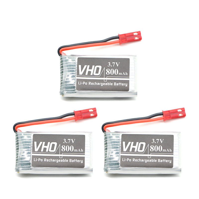 VHO 3PCS 3.7V 800mah Lipo Battery For MJXRC X400 X500 HENGDI 1315 HJ818 battery Lipo 3.7 V 800 mah 902540 25C cm 052535 3 7v 400 mah для видеорегистратора купить