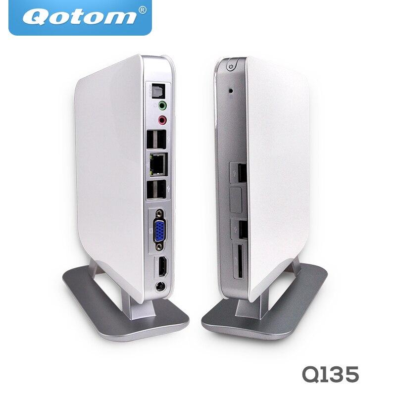 QOTOM Mini PC AMD APU E350 Micro Barebone Mini PC 1080P Q135