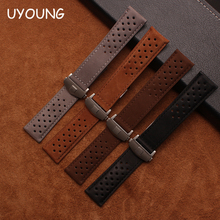 Quality genuine leather watchband 22mm new pattern scrub strap brown watch accessories bracelet