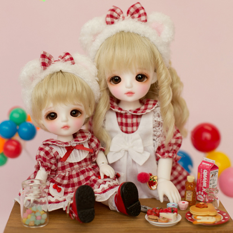 1/8 BJD Doll BJD/SD Fashion Cute LOVELY Miu With Glass Eyes For Baby Girl Gift Present 1 8 bjd doll bjd sd fashion cute miu with eyes for baby girl gift full set doll clothes shoes wig like picture