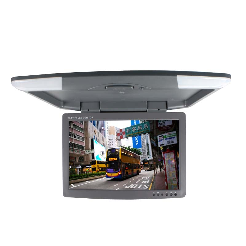 17 inch car monitor DC 12V two video inputs flip down monitor TFT LCD digital screen SH1708 Beige/Gray/Black color
