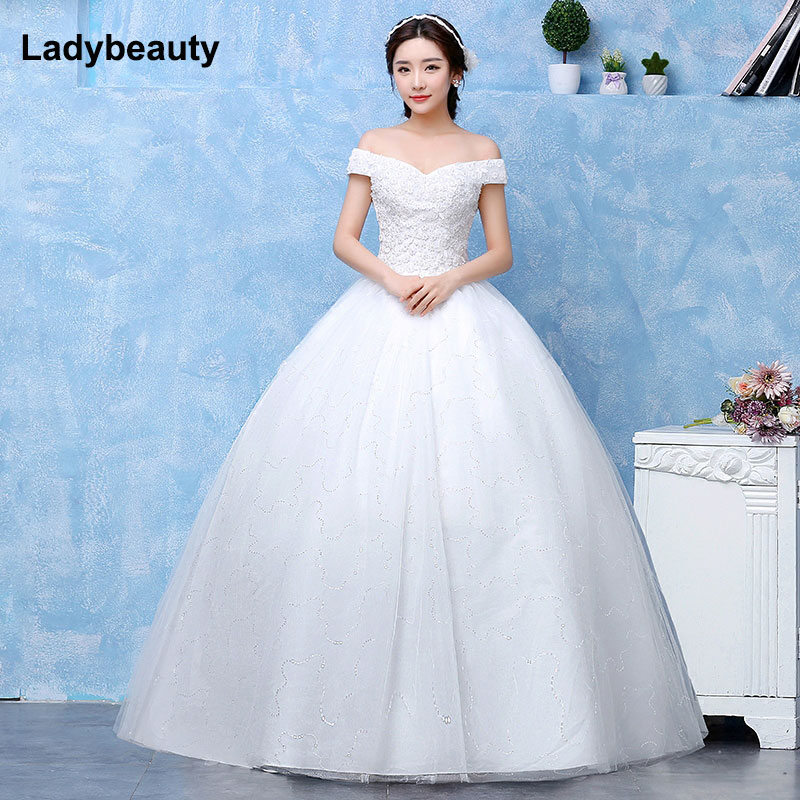 Classic Wedding Gowns 2018: 2018 New Arrival Ball Gown Bridal Dress Vintage Muslim