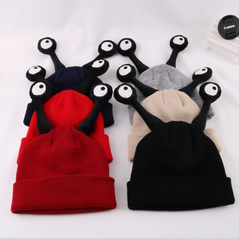 Winter Warm Kids Baby Girls Boys Dual Balls Cartoon Warm Cap Two Antennas Hat 6 Month 6 Years Old High Quality in Hats Caps from Mother Kids
