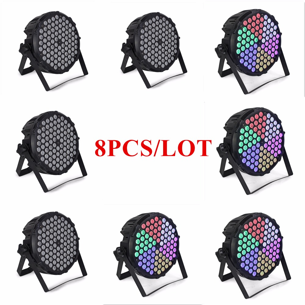 8Pcs/Lot LED Par Lights Aluminum 84Pcs Lamp Beads 3W RGB DMX Professional Stage Dj Equipment Event Wedding Light Decoration8Pcs/Lot LED Par Lights Aluminum 84Pcs Lamp Beads 3W RGB DMX Professional Stage Dj Equipment Event Wedding Light Decoration