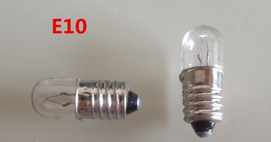 E10 12v 0.1a Indicator Lights Bulb For Instrument Machine, Tool Equipment Etc