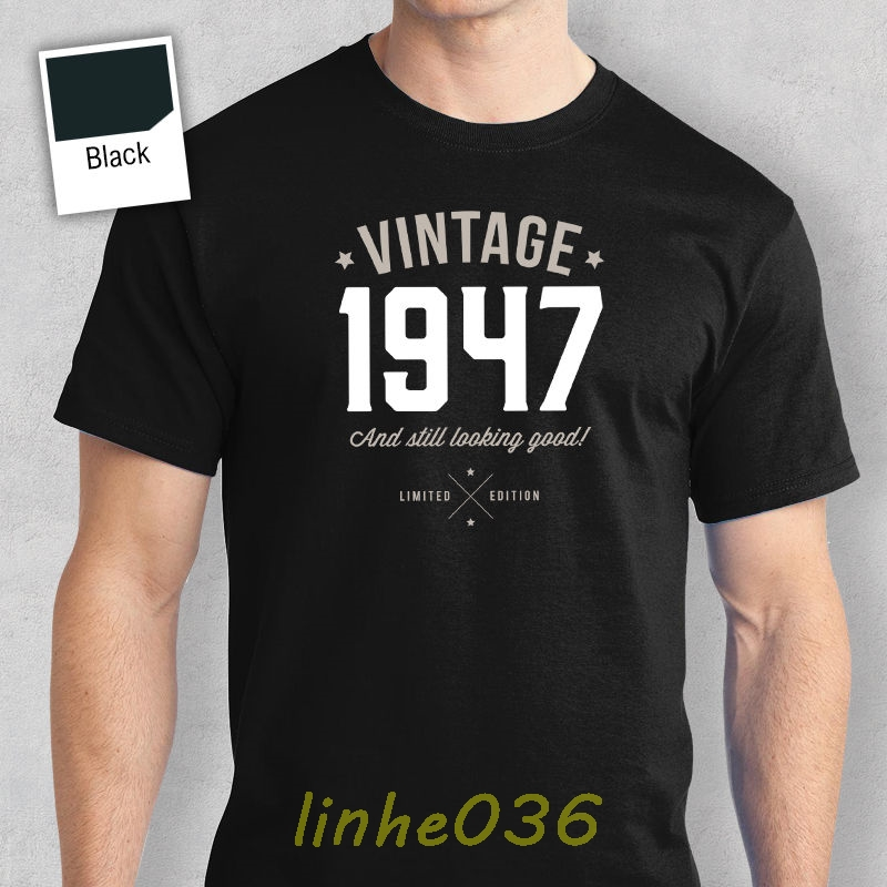 70th Birthday Gift Present Idea For Boys Dad Him Men T Shirt 70 Tee 1947 Mans Unique Cotton Short Sleeves O Neck