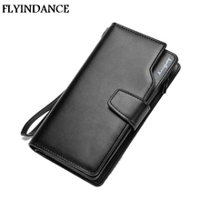 FLYINDANCE 2017 New Design Men Purse Casual Wallet Clutch Bag Brand Leather Long Wallet Brand Hand Bags For Men Purse