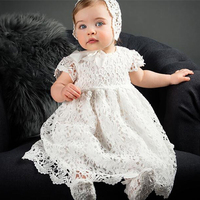 1 תינוקת שמלות יום הולדת לשנה טבילת תינוקת הטבלה כותנות מסיבת חתונת תחרות שמלת תחרה יילוד פעוטות Bebes
