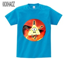 2019 Boys and Girls Gravity Falls Cartoon Mabel Dipper Pine Print T shirt Kids Funny Clothes Enfant Short Sleeve T-shirt  NN