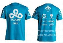 Summer Style T-shirt Men Dota2 C9 Men T Shirt Cloud9 Tees Game Team Printed Tees Gaming Jersey camiseta