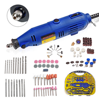 130W Multifunctional Electric Grinder Mini Speed Regulating Electric Grinder 211pcs Rotary Tool Accessories Grinding Power Tools