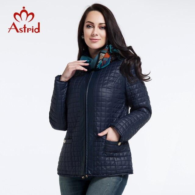 2018 Астрид куртки нью-высококачественный женщин осень и зимнее пальто Большой размер куртка мода отдыха бренд женщин L-5XL AM-1590