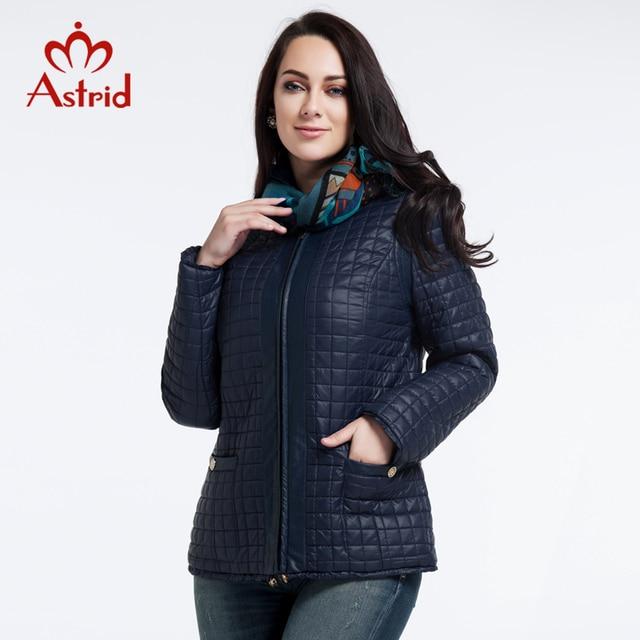 2019 Астрид куртки нью-высококачественный женщин осень и зимнее пальто Большой размер куртка мода отдыха бренд женщин L-5XL AM-1590