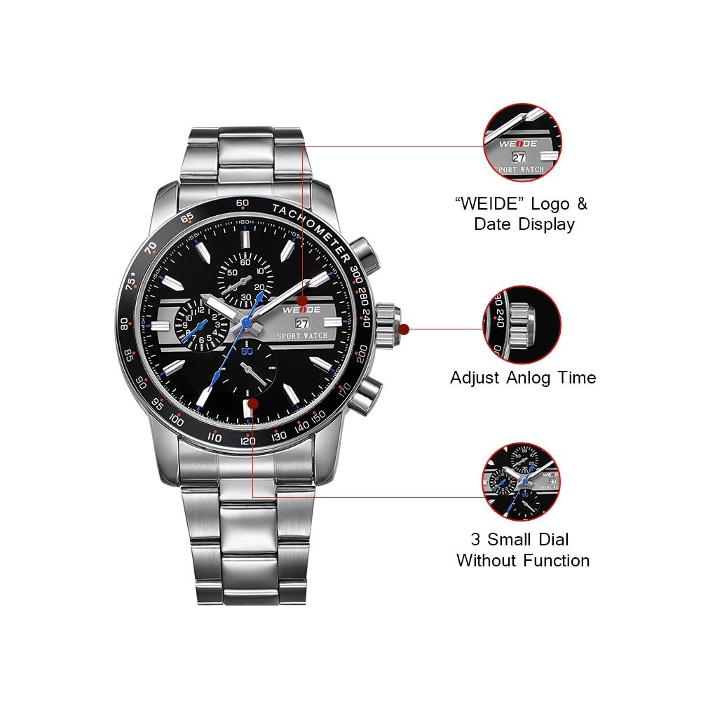 Weide 2017 topquartz reloj deportivo reloj casual genuino papel de - Relojes para hombres - foto 3