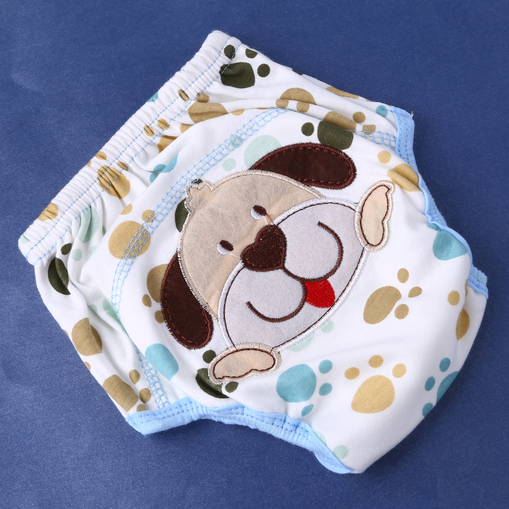 Waterproof Reusable Baby Cotton Cloth Diaper Reusable Children Newborn Nappies Training Pants Washable Babies Underpants S M L