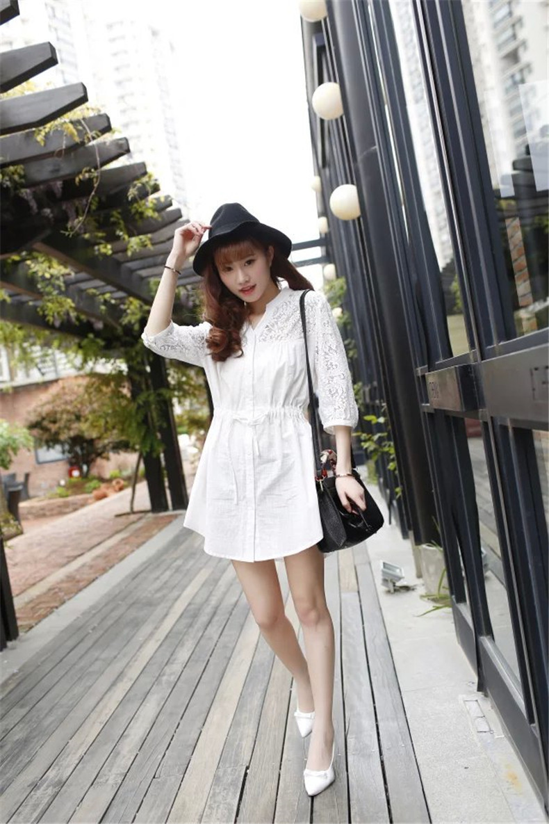 871fe9cb5d9c84 NEW White Collar Neck Women Blouse Designs 3XL Big Size Embroidery Star  Cotton Girls' Half Sleeve Lace Hollow Out Shirt 0163-in Blouses & Shirts  from ...