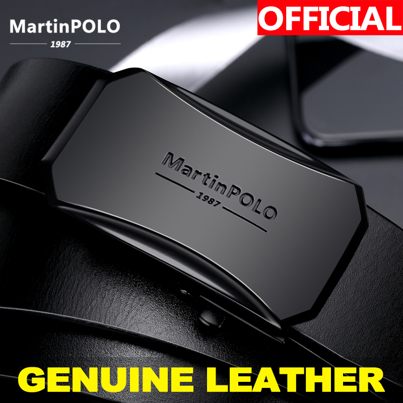 MatinPOLO Genuine Leather Belt Male Automatic Buckle Men's Leather Belt Black Strap Original Natural Cowskin Belts MP00901P