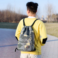 Camouflage shoulder bag large capacity tidal men's and women's pockets light waterproof outdoor sports bag Drawstring Bags