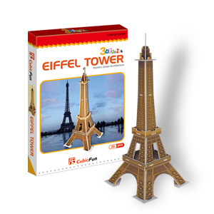 Model kertas, Model 3D, Mainan anak-anak, Jigsaw game, Menara Eiffel mainan bayi, S3006h freeshipping