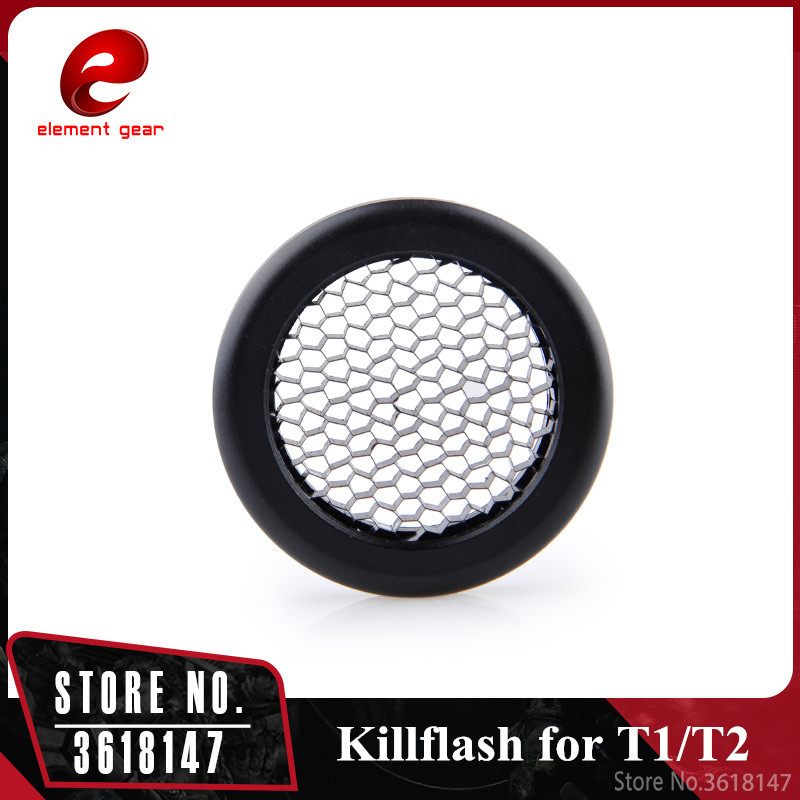 Element Airsoft Killflash/Kill Flash for Solar Red Dot T-1 / T1 / T-2 / T2 / TR02 Red Dot Scope Hunting Accessories Black image