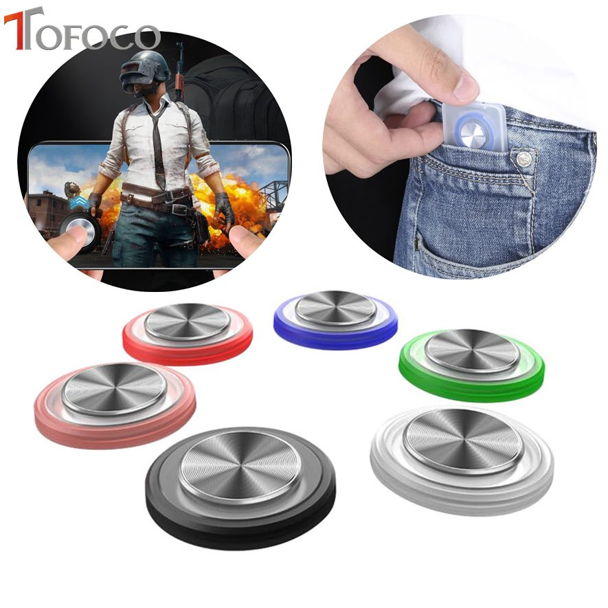 Round Game Joystick Mobile Phone Rocker For Iphone Android Tablet Metal Button Controller For PUBG Controller With Suction Cup(China)