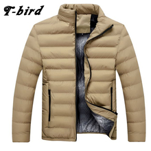 T-Bird Winter Men Jacket 2017 Brand Casual Mens Jackets And Coats Thick Parka Men Outwear 4XL Jacket Male Clothing Large Size