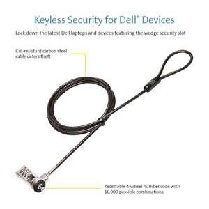 Image 2 - Kensington N17 Cable Lock for Dell Laptops with Wedge Lock Slot Anti theft Keyed Password Combination Laptop Lock K64442ww