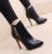 Inverno sensuais saltos finos apontou toe alto-salto alto botas com zíper martin botas mulher botas frete grátis