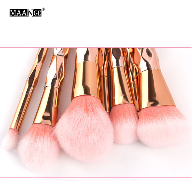 MAANGE 7/10Pcs Diamond Makeup Brushes Set Powder Foundation Eye Shadow Blush Blending Cosmetics Beauty Make Up Brush Tool Kits 2