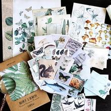 36Pcs/set Vintage Handmade Material Sticker Scrapbooking Big Pack Creative DIY Decorative Adhesive Label Bullet Journal Supplies