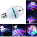 New Arrival Auto Full Color 3W Rotating RGB LED Crystal Magic Stage Light Bulb Lamp Disco Party Effect Lights