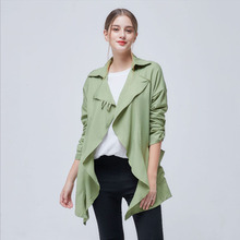 2019 New Womens Fashion Windbreaker 5XL Increase Wild Lapel Irregular Long Sleeved Female Coats Casual Short Jackets Spring