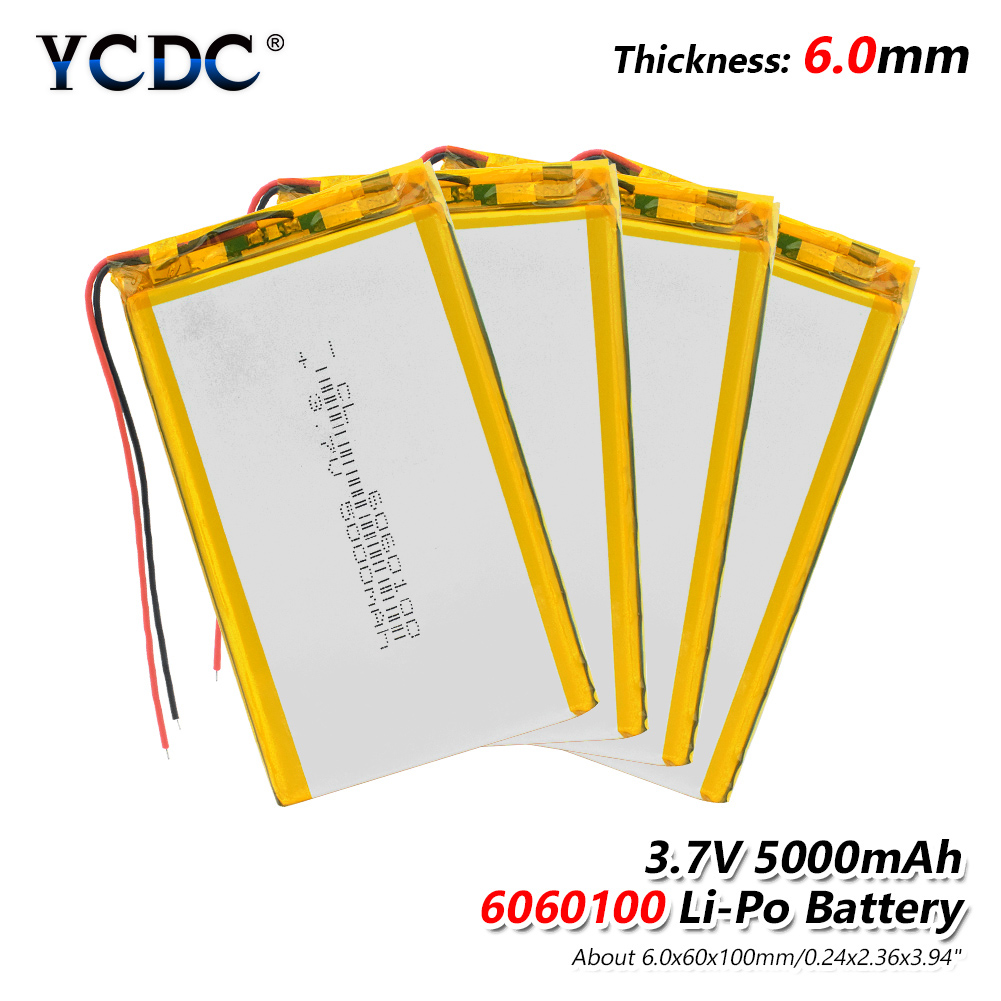 1/2/4x Li Po Li-Ion Batterien Lithium-Polymer Batterie 3 7 v Lipo Li Ion Lithium- -ionen 6060100 5000 mah Bateria Ersetzen