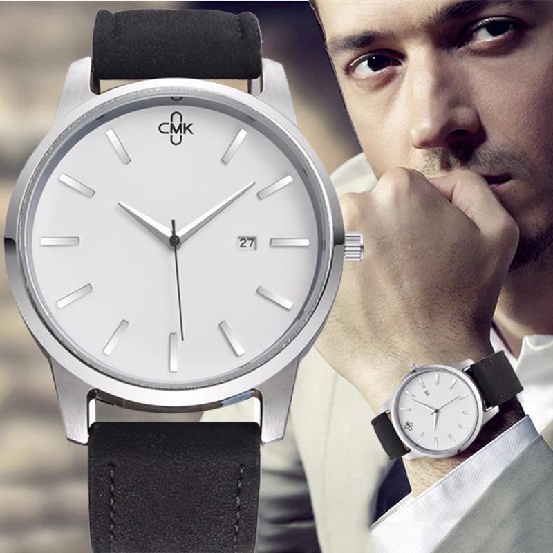 Military Leather Business Quartz Luxury Sport Casual wrist Men Watch 2