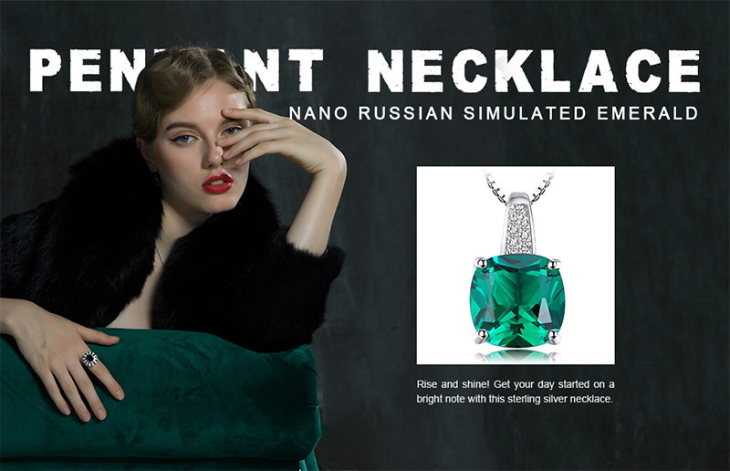 geekoplanet.com - Cushion-Cut 3.4ct Emerald Pendant
