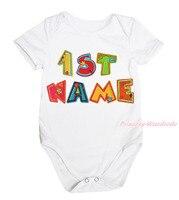 Personalize Custom 1ST Birthday Baby Name Girl White One Piece Bodysuit NB 12M MAJPA0050