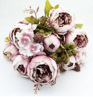 Decorative Flowers European High Grade Silk Peony Artificial Flowers Artificial Flowers Home FloralDecorative Flowers