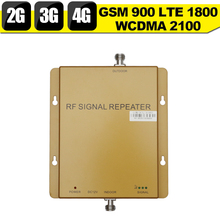 2G 3G 4G GSM 900 WCDMA 2100 LTE 1800 Tri Band Mobile Phone Signal Booster 65dB Gain Cell Phone Cellular Repeater 3G 4G Amplifier